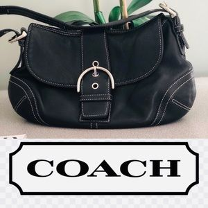 Beautiful Black Coach Shoulder Bag